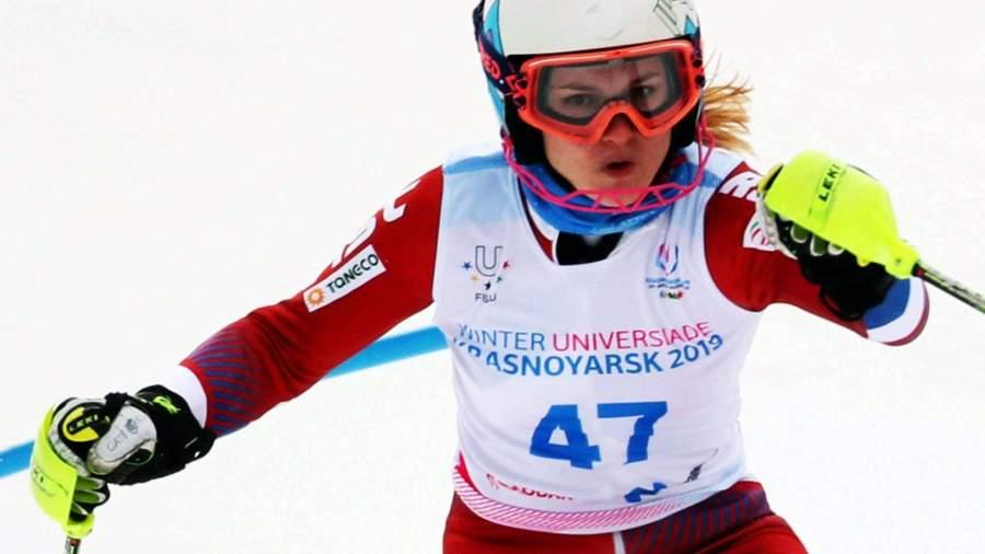 Горнолыжница Ткаченко победила в гигантском слаломе на Универсиаде