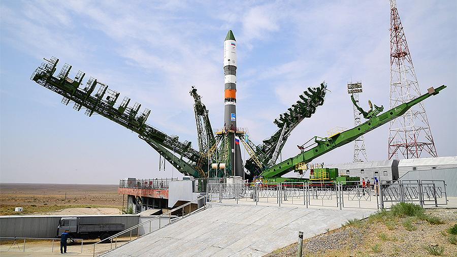 Опубликовновидео старта ракеты«Союз» с кораблем «Прогресс МС-12»