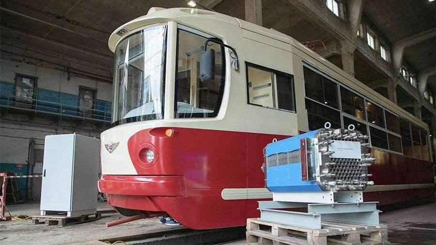 В Петербурге представили макет трамвая на водородном топливе