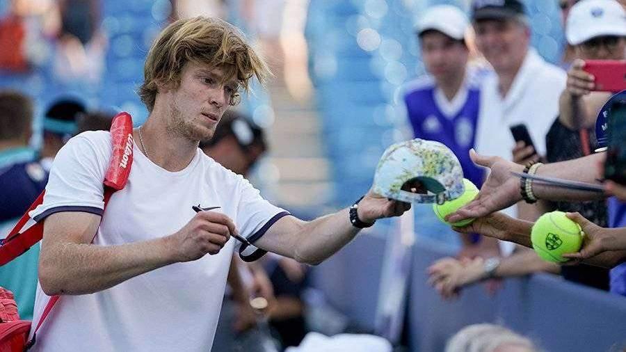 Теннисист Рублев вышел в третий круг US Open