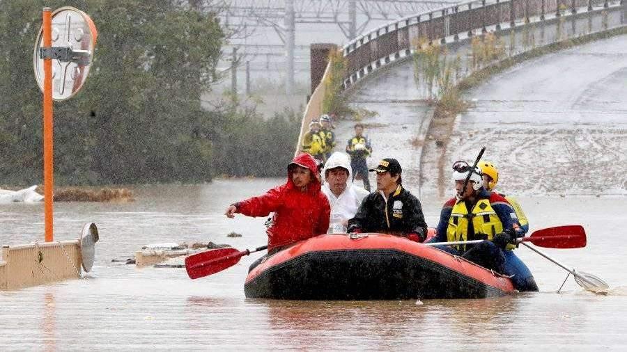 Число жертв тайфуна «Хагибис» в Японии возросло до 44