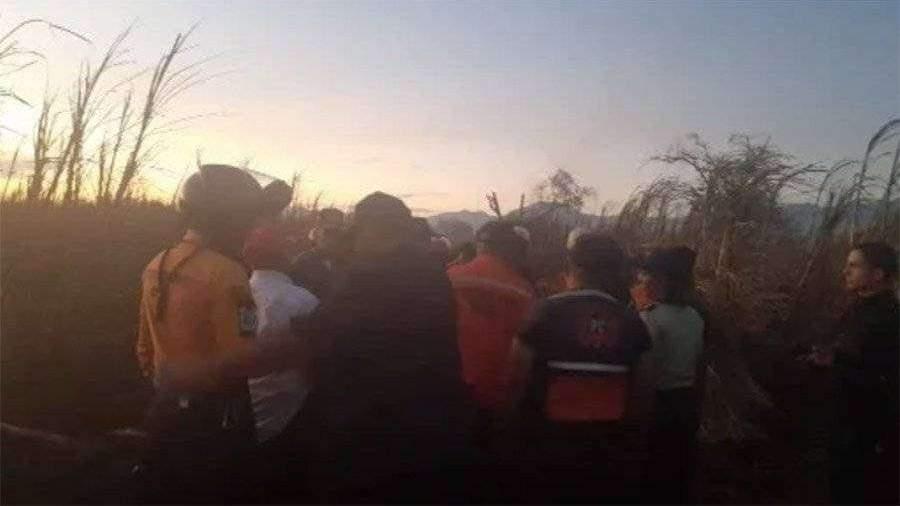 Тростниковые плантации на севере Венесуэлы охвачены огнем