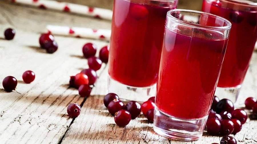 брусничный сок