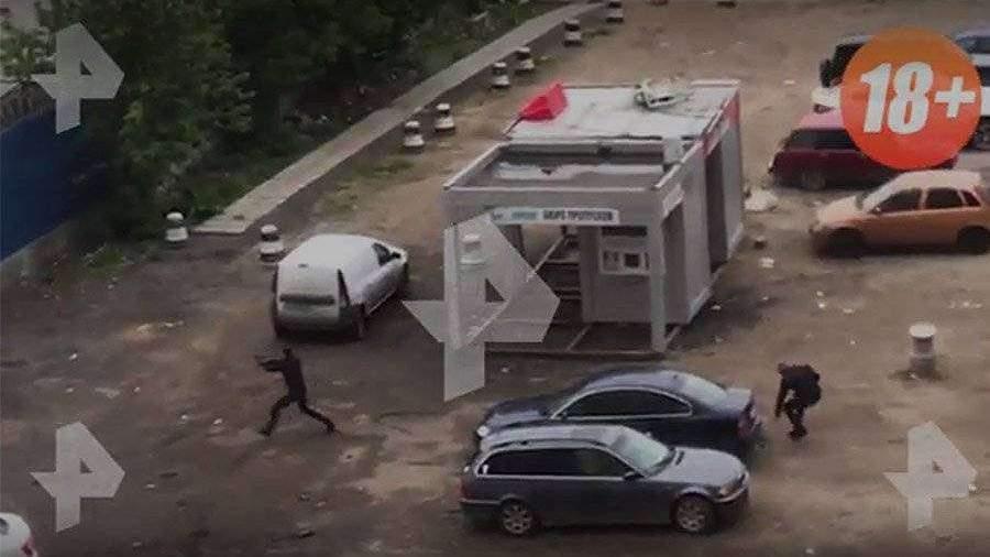 Moskvada baş vermiş atışma zamanı bir nəfər yaralanıb VİDEO