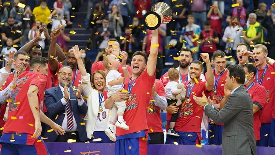 Баскетболисты ЦСКА в девятый раз подряд стали чемпионами Единой лиги ВТБ