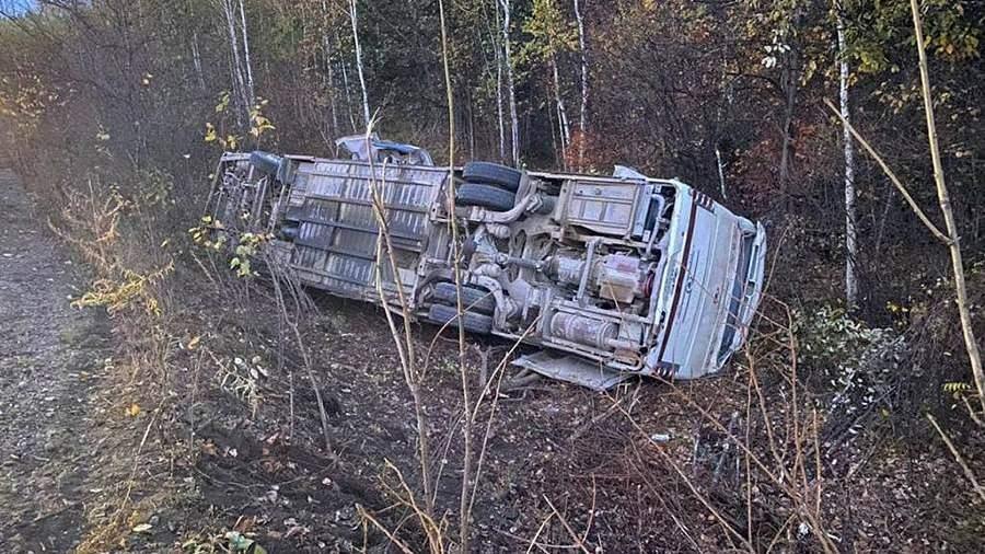 В МВД назвали предварительную причину ДТП с автобусом под Хабаровском