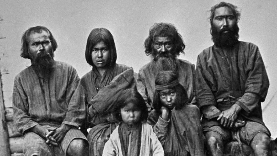 Аины - представители коренного населения острова Сахалин