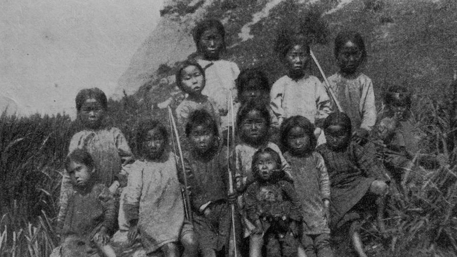 Нивхские дети. Сахалин