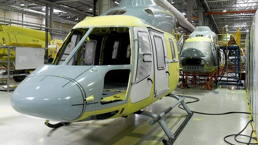 Линия сборки вертолетов «Ансат» в цехе гальванического производства на Казанском вертолетном заводе