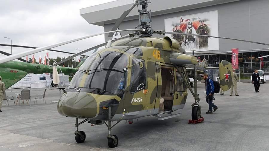Российский многоцелевой вертолёт Ка-226 на выставке «Армия России – завтра» в рамках IV Международного военно-технического форума «Армия-2018» в Кубинке