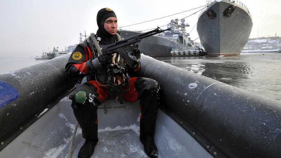 Сотрудник отряда по борьбе с подводными диверсантами (ПДСС)