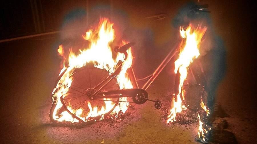Велосипед Lucky Bike, который похитили и сожгли в Краснодаре