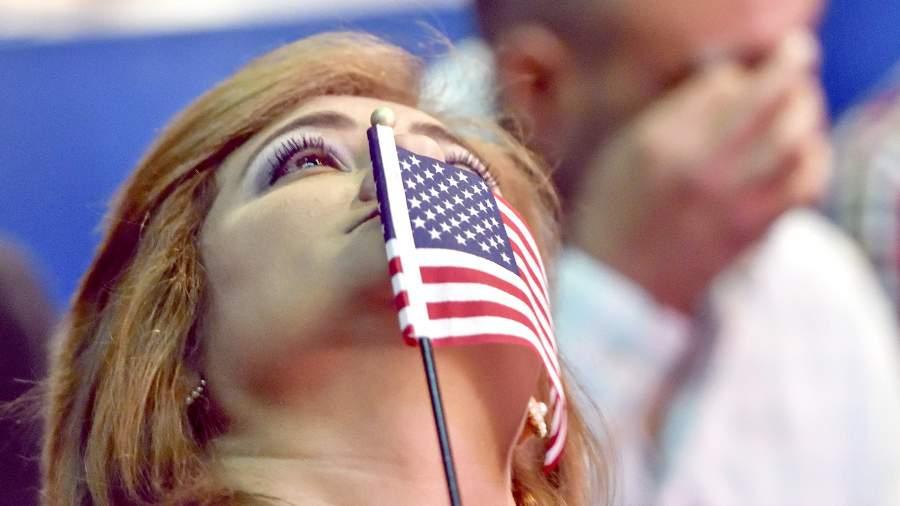 США гражданин флаг