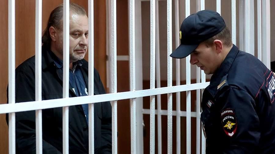 Олег Коршуновво время оглашения приговора в Гагаринском суде города Москвы