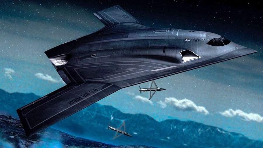 Предполагаемый внешний вид американского стратегического бомбардировщика B-21