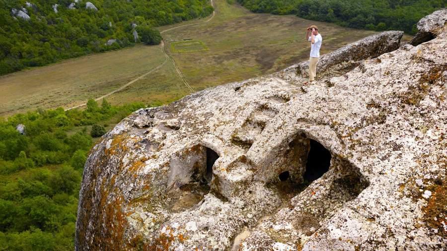 Одна из хижин пещерЭски-Кермен