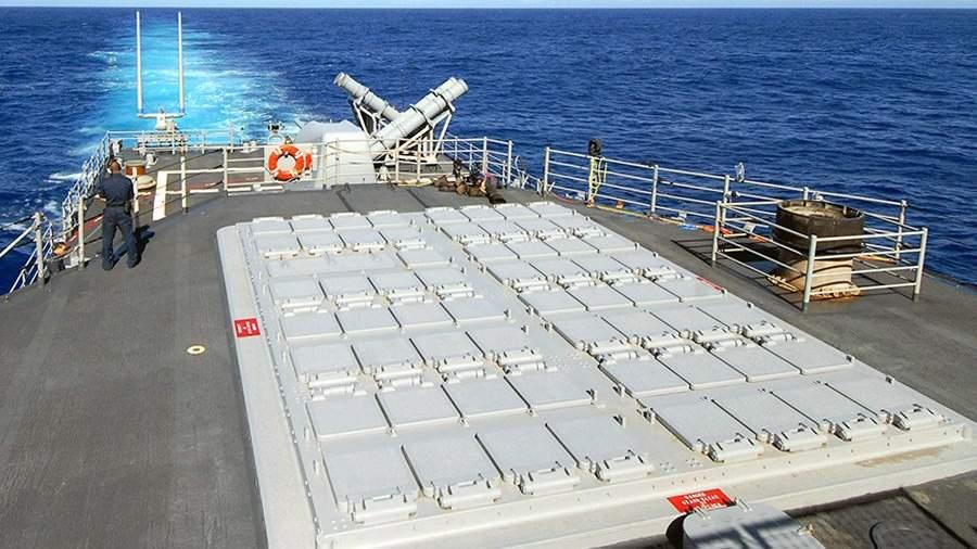 Кормовая установка вертикального пуска Mk 41 на крейсере «Озеро Эри»