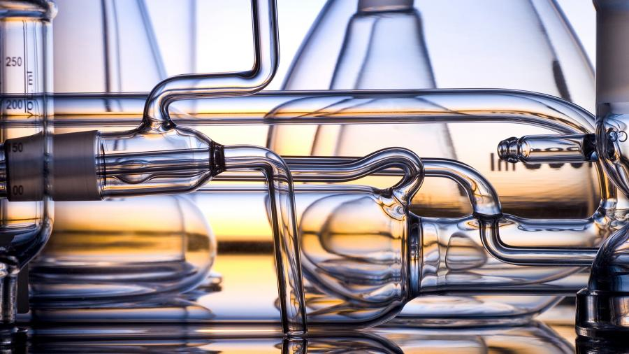 лаборатория пробирки стекло химическая реакция