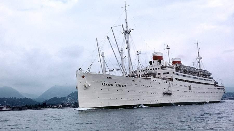 Круизный лайнер «Адмирал Нахимов» в Черном море