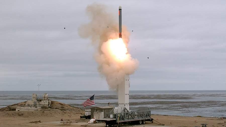 Запусккрылатойракеты наземного базирования, в ходе испытаний на острове Сан-Николас, США
