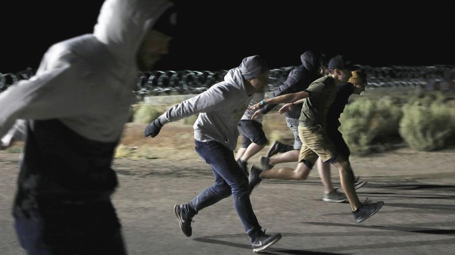 Люди, бегущие «как Наруто»