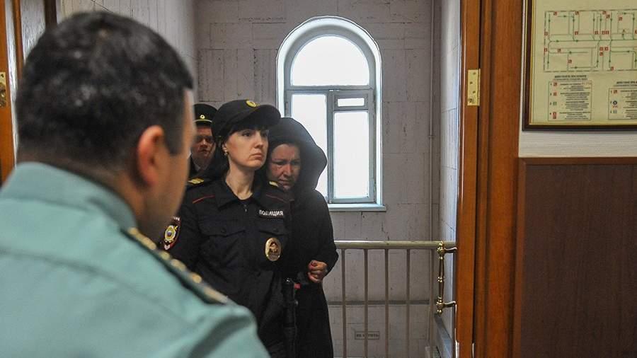 Татьяна Магдеева во время избрания меры пресечения