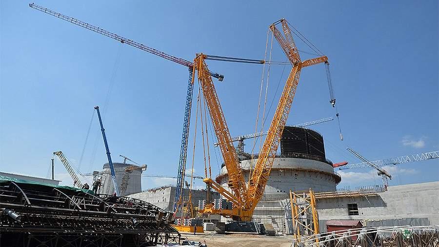 Строительство реакторного блока первой Белорусской атомной электростанции в Гродненской области