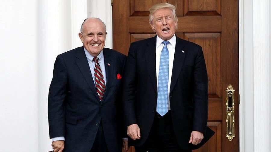 Рудольф Джулиани и президент США Дональд Трамп во время встречи