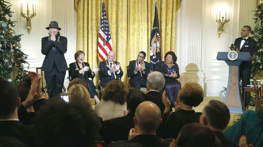 Барак Обама и Ширли Майлейн