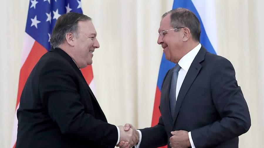 Встреча главы МИД России С.Лаврова и госсекретаря США М.Помпео