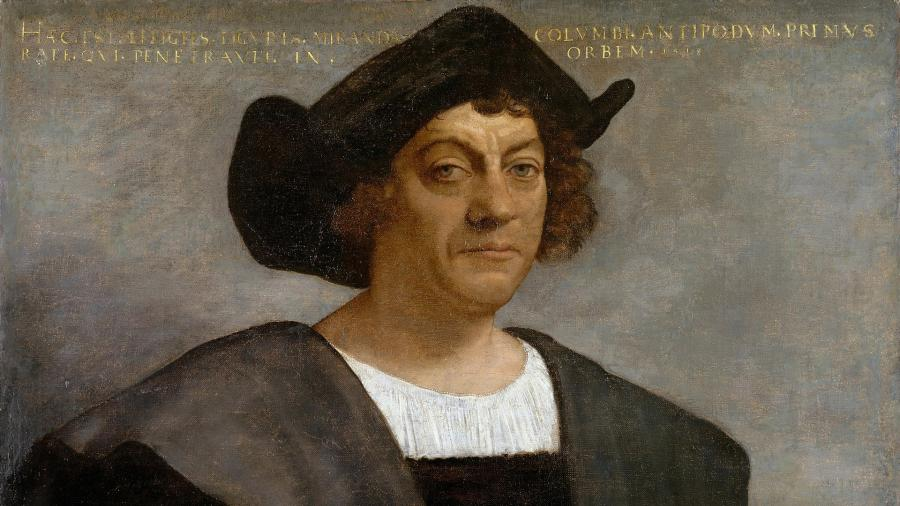 Фрагмент портрета на котором предположительно изображен Христофор Колумб