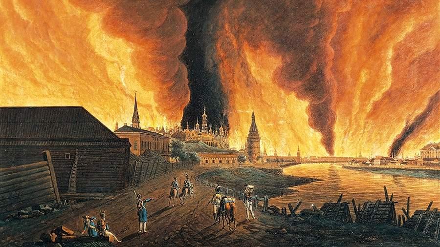Картина «Московский пожар 1812 года»