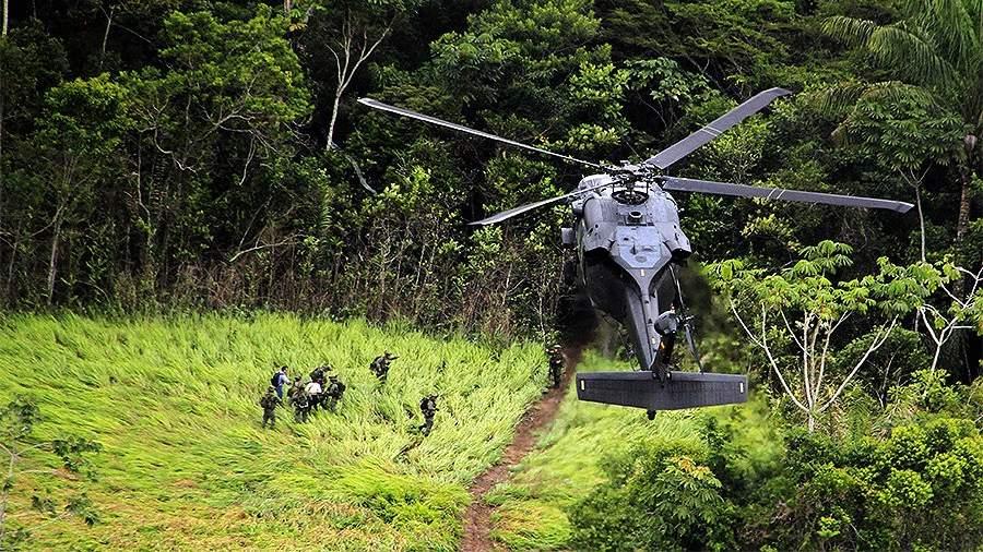 колумбия полиция вертолет наркотики