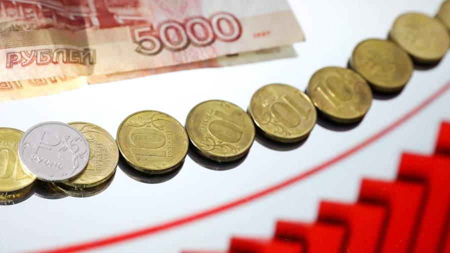 график рост рубля