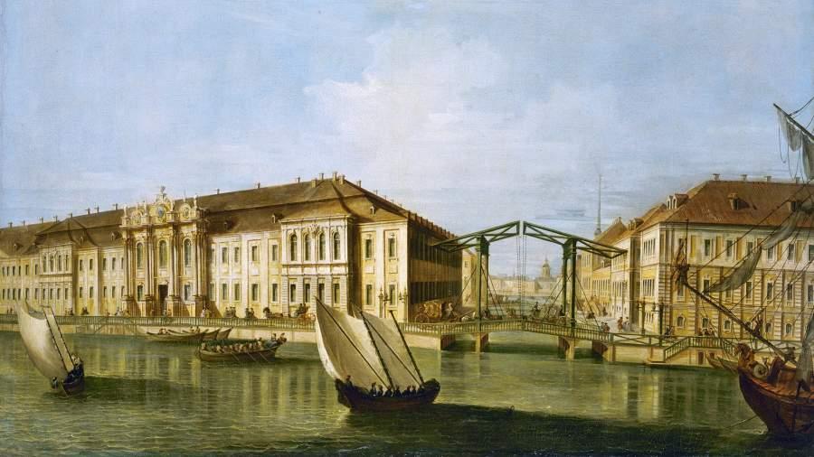 Вид Зимнего дворца, середина 18-го века
