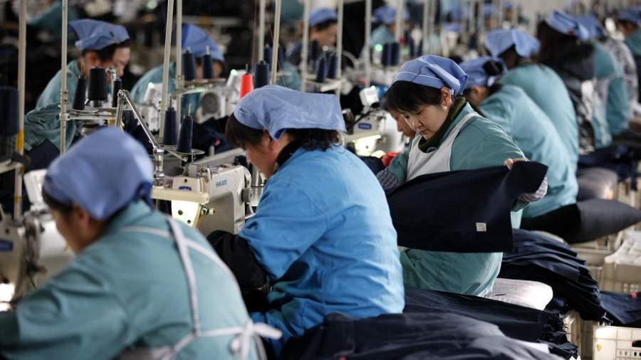 Швейная фабрика в Китае