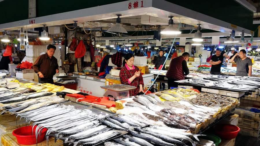 Рыбный рынок в Китае