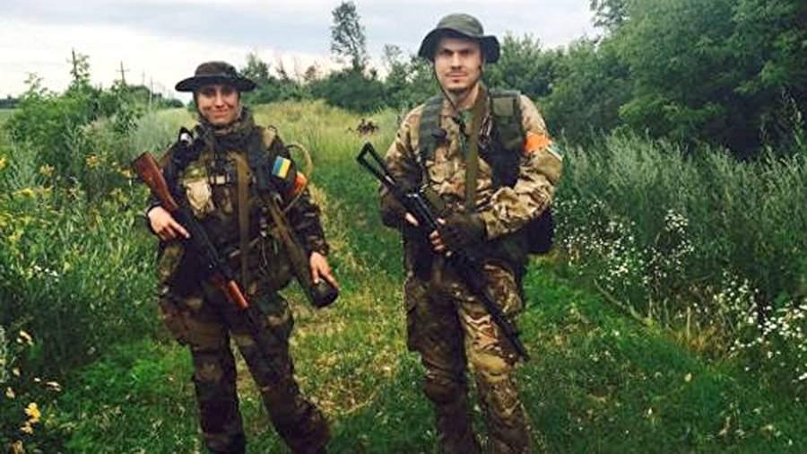 Амина Окуева и Адам Осмаев во время силовой операции на Донбассе