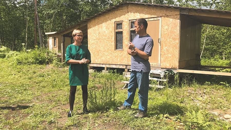 Руководитель проекта приоритетных проектов развития Камчатского края Юлия Харитонова и Андрей Гулей