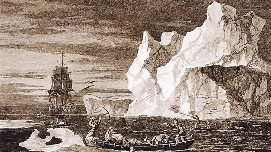 Уильям Ходжес. Моряки наблюдают айсберг во время второго путешествия Джеймса Кука. 9 января 1773 года