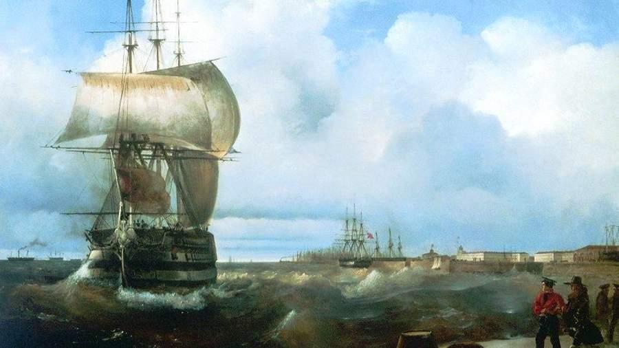 И. Айвазовский. Большой рейд в Кронштадте. 1836 год