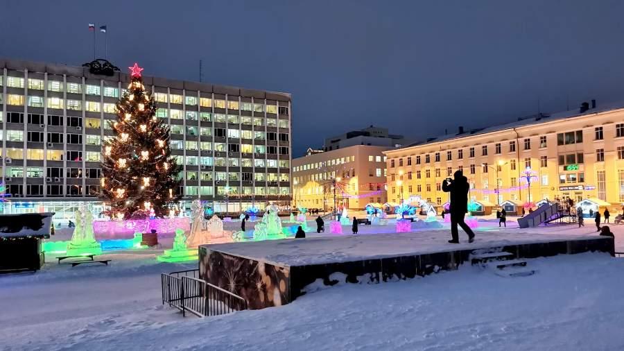 Зимний Сыктывкар, городская площадь