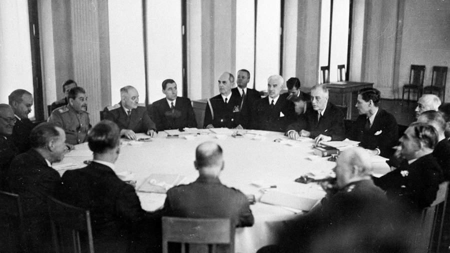 На одном из заседаний Ялтинской (Крымской) конференции союзных держав