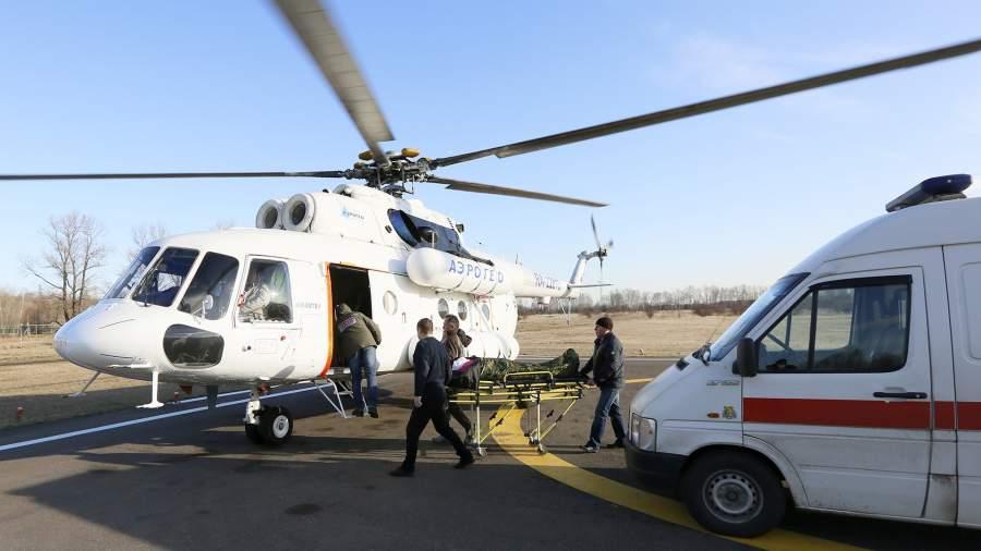 вертолет Ми-8 пациент скорая помощь