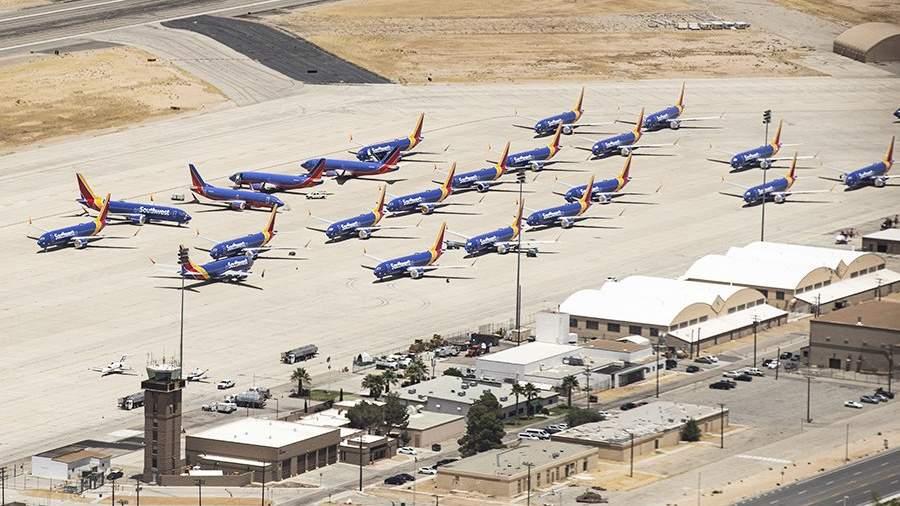Самолеты Boeing 737 MAXавиакомпании Southwest Airlines в Викторвилле