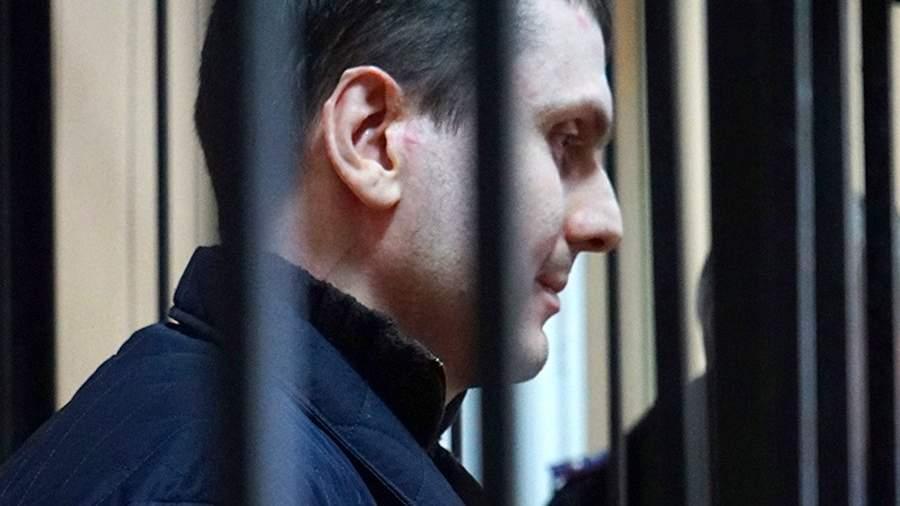 Адам Осмаев на заседании в Приморском районном суде Одессы
