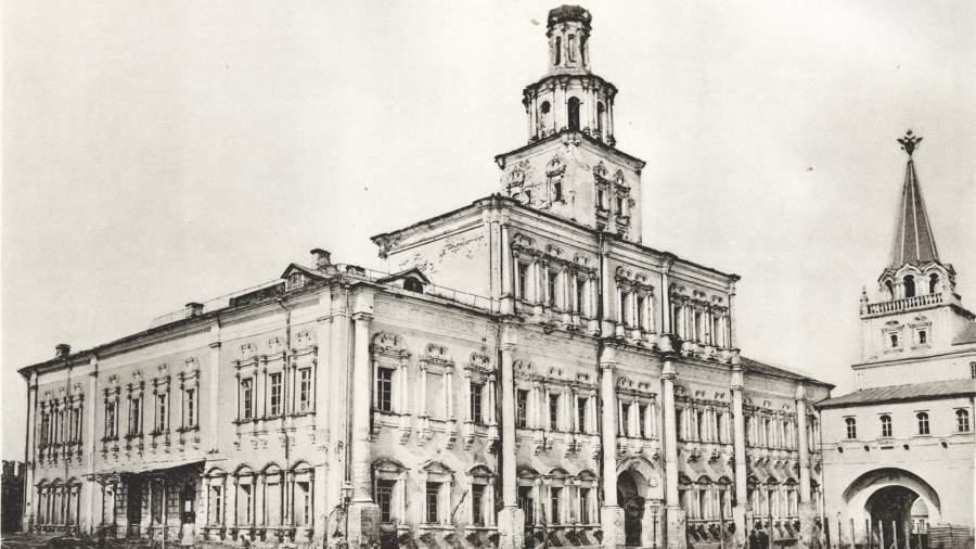 Первое здание Московского университета у Воскресенских ворот на Красной площади
