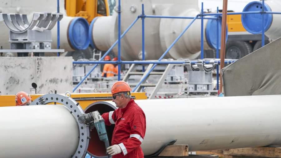 Строительство трубопровода «Северный поток-2»