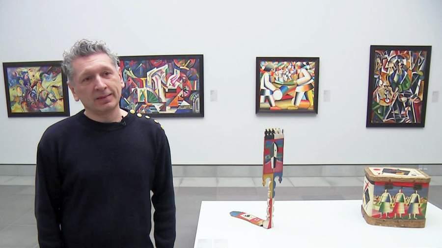 Игорь Топоровский на своей выставке в Музее изящных искусств Гента