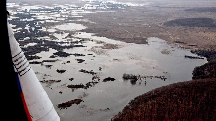 Спасательные службы МЧС проводят авиационную разведку паводковой обстановки в центральной части Приморского края